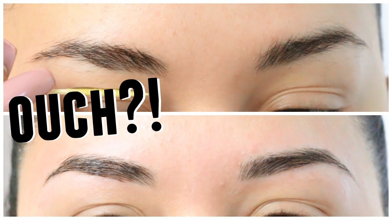 HOW TO WAX EYEBROWS AND UPPER LIP AT HOME   DIY - YouTube
