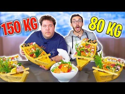 80 KG vs 150 KG: CHI MANGIA PIÙ SUSHI?!