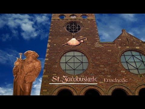 St Jacobus Enschede Vaandel ceremonie en  Angelusklokje terug