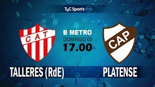 CA Talleres Remedios de Escalada vs Club Atletico Pla. full match