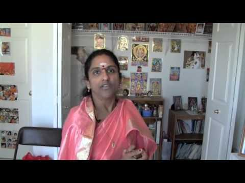 HOW SACRED ASH (VIBHUTHI) POURS FORTH from all spiritual images in her home near Ann Arbor