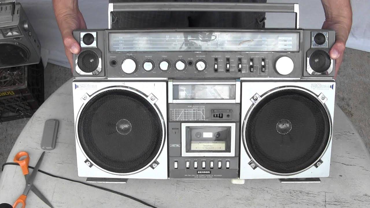 huge ghetto blaster sensor boombox rare boombox aka 39 s hx 4631 hx 4635 youtube. Black Bedroom Furniture Sets. Home Design Ideas