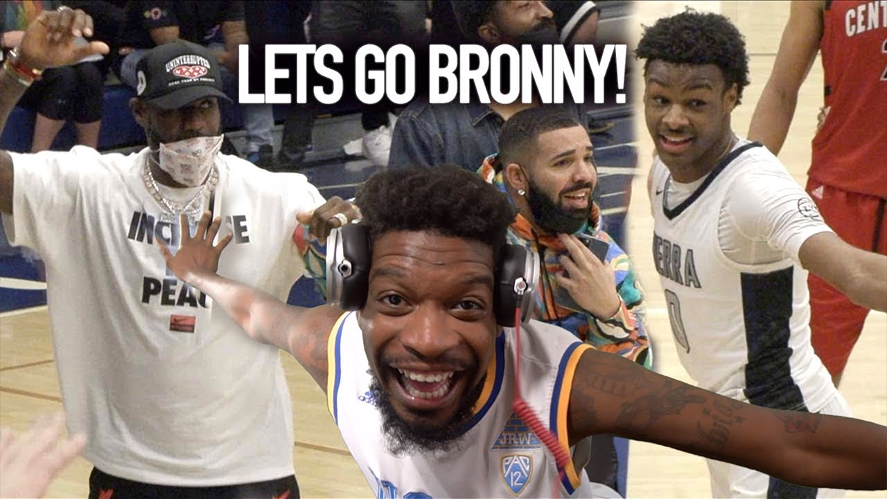 Download Drake & LeBron Watch BRONNY'S FIRST GAME OF THE SEASON!! Sierra Canyon FIGHTS For The Championship!!