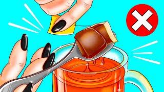 紅茶のティーバッグを絞るのはNG!今すぐ直したい32の日常的な悪い習慣