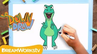 T-Rex Drawing Tutorial | DOWN TO DRAW