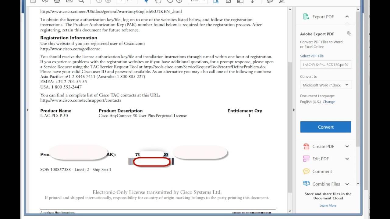 Cobaltix - How to license a Cisco ASA 5506 (Greg Carleton)