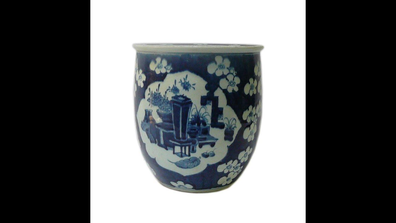 Chinese blue white flower vase porcelain narrow pot planter cs599 chinese blue white flower vase porcelain narrow pot planter cs599 mightylinksfo