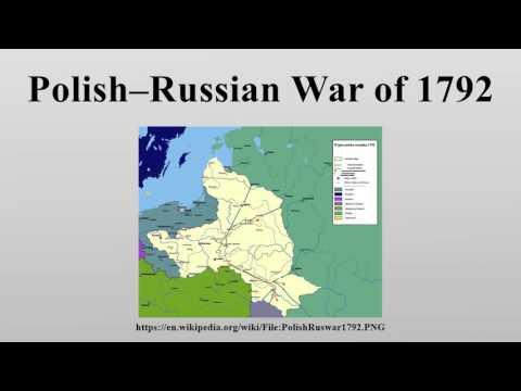 Polish–Russian War of 1792