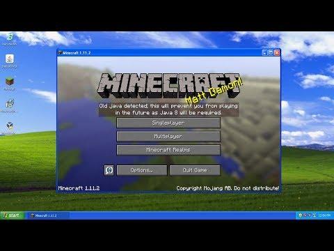 Trying Minecraft On Windows XP