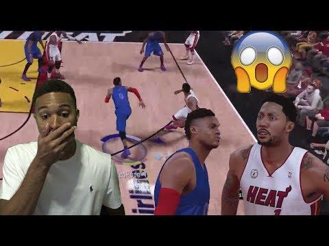 MVP Diamond Derrick Rose vs Diamond Russell Westbrook!! Unbelievable | NBA 2K17 MyTeam Gameplay