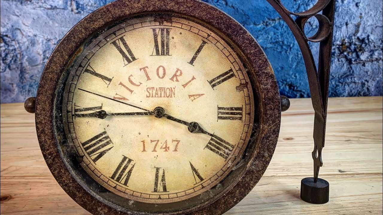 Vintage Style Victoria Station Clock Restoration Youtube