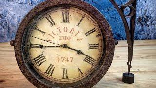 Vintage style Victoria Station clock - Restoration