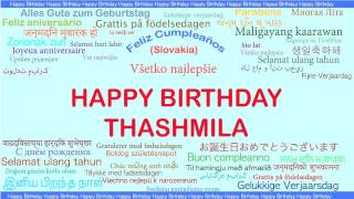 Thashmila   Languages Idiomas - Happy Birthday