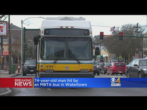 74-Year-Old Man Hit By MBTA Bus In Watertown
