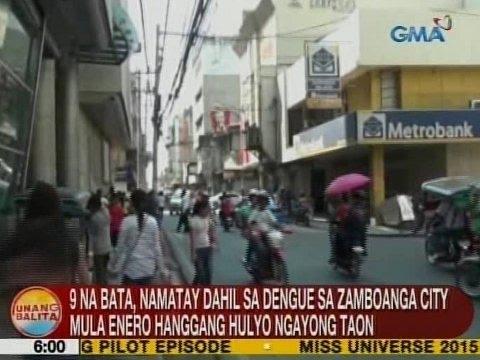 UB: 9 na bata, namatay dahil sa dengue sa Zamboanga City mula Enero hanggang Hulyo ngayong taon