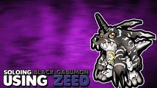 Soloing Black Gabumon using Zeed! | Digimon Aurity | Roblox