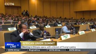 CGTN : 28th AU Summit in Ethiopia Opens With Criticism of Trump's Policy On Refugees