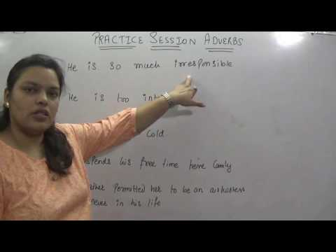 PRACTICE SESSION ADVERB  FOR SSC CGL CHSL GOVERNMENT JOB CLAT