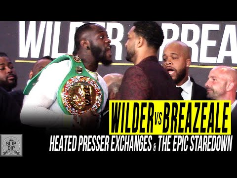 Deontay Wilder & Dominic Breazeale trade verbal jabs & have to be separated at presser