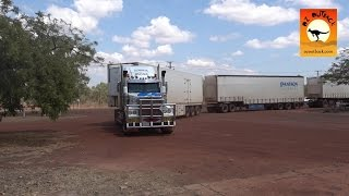 Repeat youtube video Massive road trains at roadhouses in outback Australia