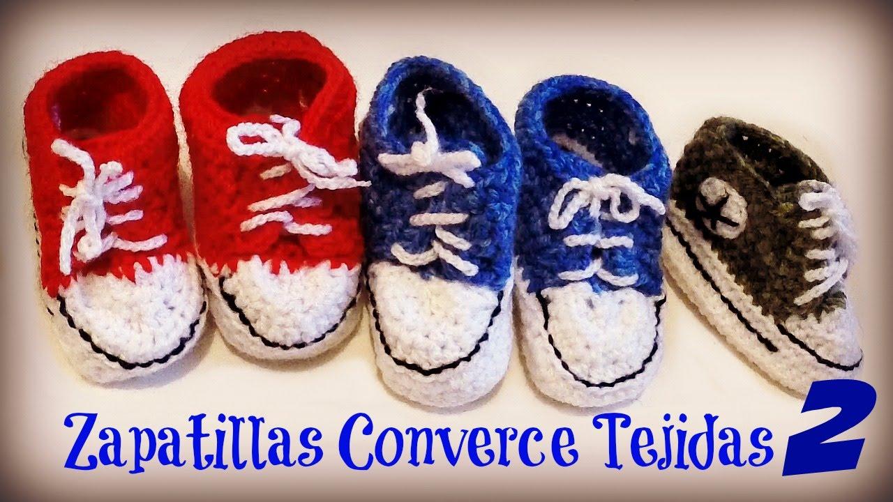 Zapatillas Converse tejidas para BEBE/HOW TO KNIT BABY BOOTIES Shoes ...