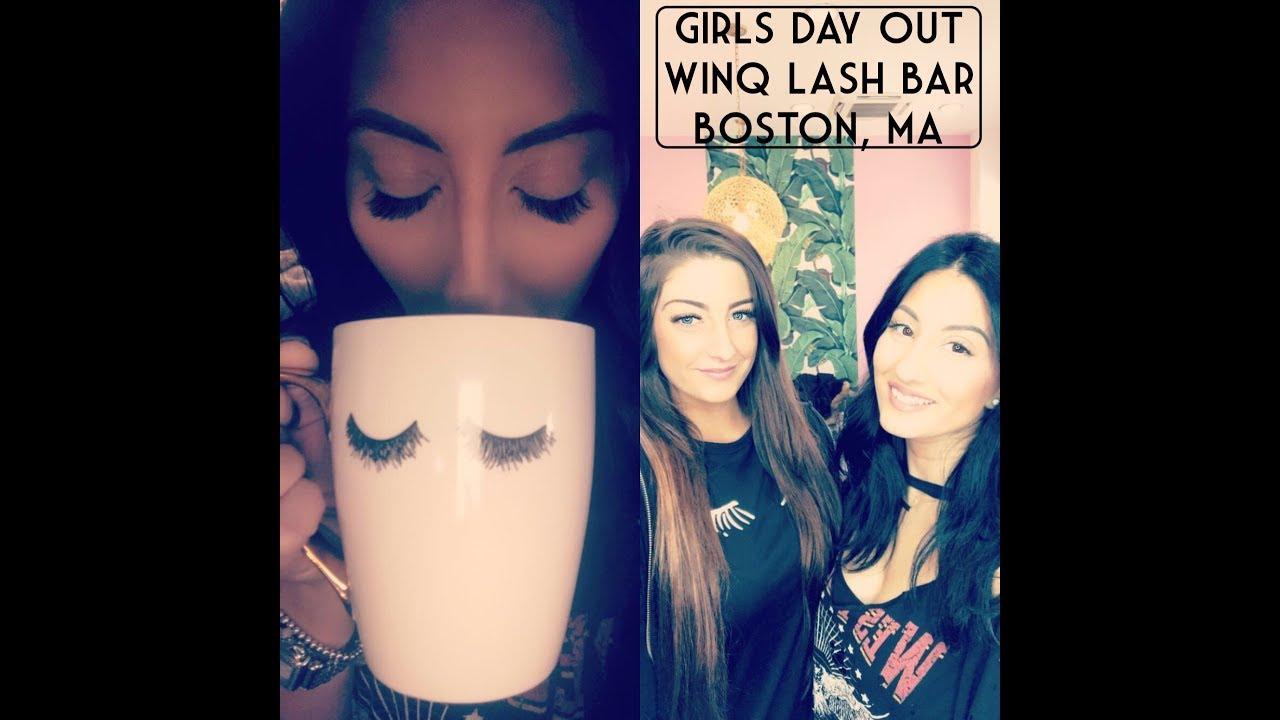 GIRLS DAY GETTING LASHED || WINQ LASH BAR || BOSTON