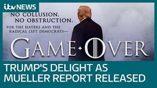 Trump tweets 'game over' as redacted Russia report is released | ITV News