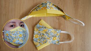 [NEW STYLE] DIY 2 Tone 3D Face Mask   Face Mask Sewing Tutorial