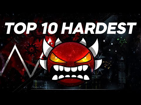 || OUTDATED || Top 10 HARDEST Demons In GEOMETRY DASH (New Years 2020)