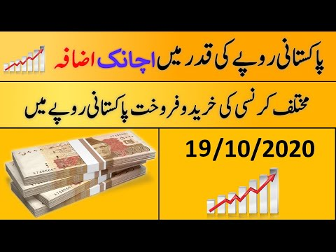 Today's Open Market Currency Rates In Pakistan  PKR Exchange Rate  19th October 2020