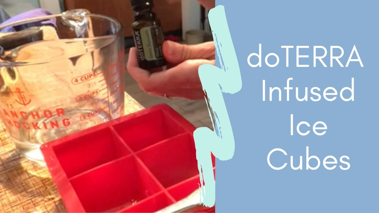 Essential Oil Infused Ice Cubes