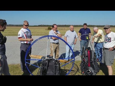 Paramotor Group Cross Country from Raleigh to Kitty Hawk!