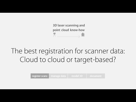 Know-how: The best registration for scanner data: Cloud to cloud or target based?