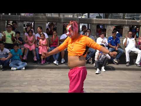 Payaso Pikolin Show Alameda Central CDMX  Abril 2018