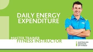 Daily Energy Expenditure