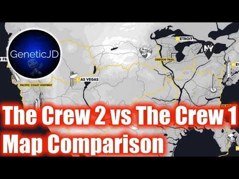 The CREW 2 vs. The CREW | Detailed Map Comparison (Part 3 ...