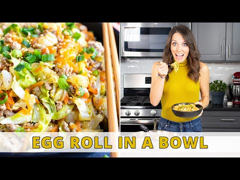 30-Minute Egg Roll in a Bowl | Quick & Easy Low-Carb Dinner!