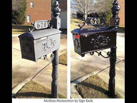 Mailbox restoration and spring loaded door closer