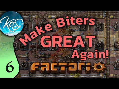 Factorio Ep 6: THE SACRED BELT TREE - Make Biters GREAT Again! - Mod, Let's Play, Gameplay