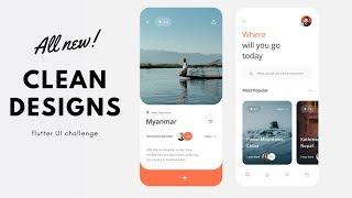 FlutterUI - Minimal Designs - Travel app - Speed Code