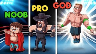 Minecraft - WWE WRESTLING! (NOOB vs PRO vs GOD)