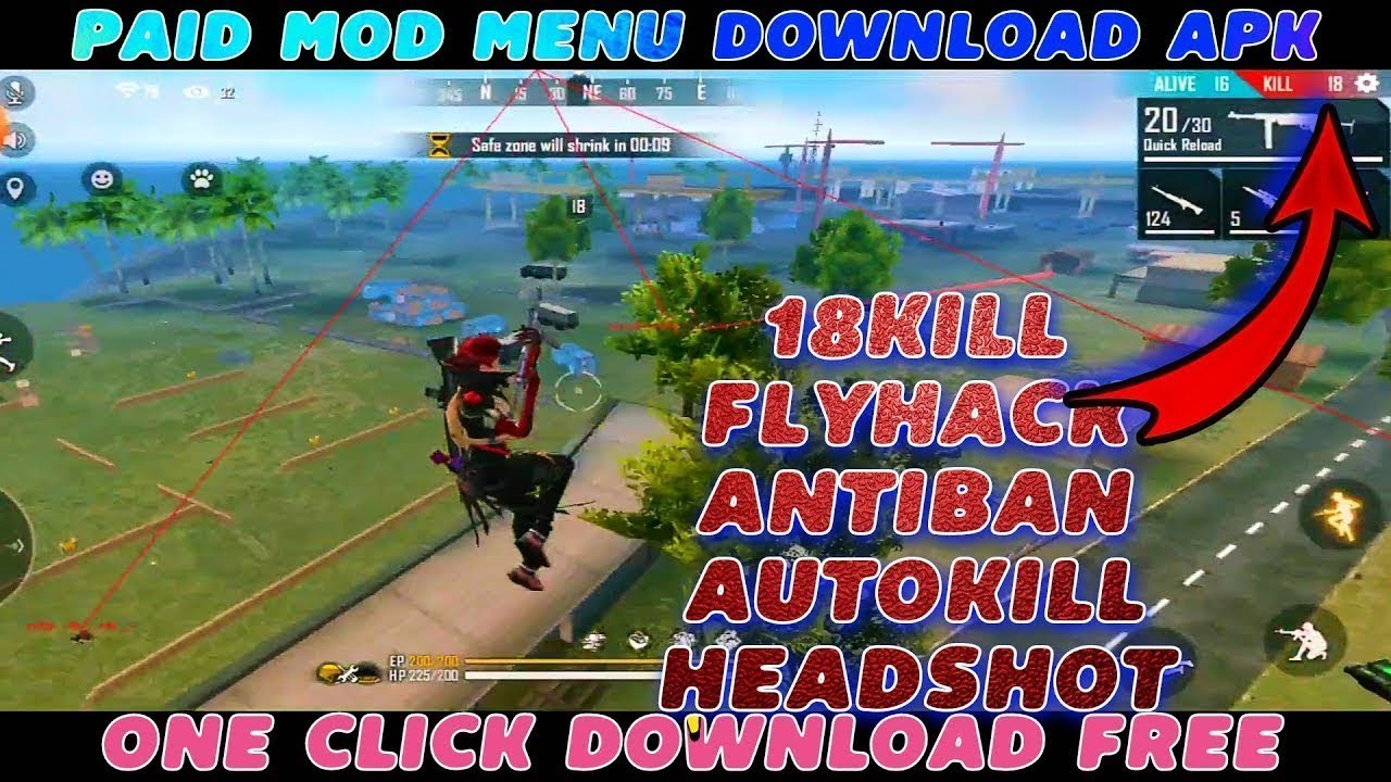 Mod Menu Para Free Fire // Diamond Hack Free Fire // Free fire mod menu rank start // AIM WALLHACK