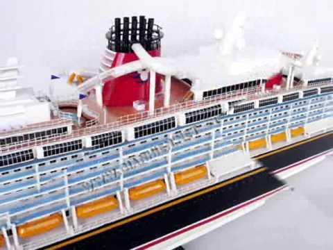 DISNEY DREAM SHIP MODEL HANDICRAFTS WOODEN MODEL BOATS YouTube - Toy disney cruise ship