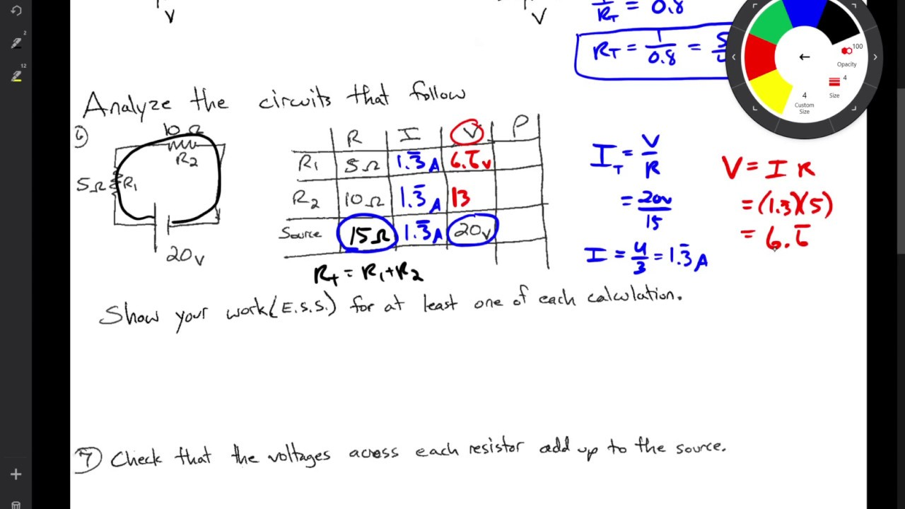 Series Circuit Analysis Example Youtube
