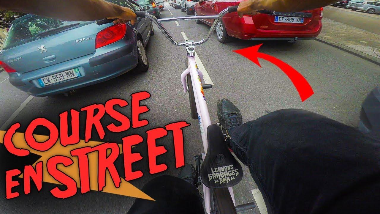 course de bmx en ville a tout vitesse pov gopro bmx