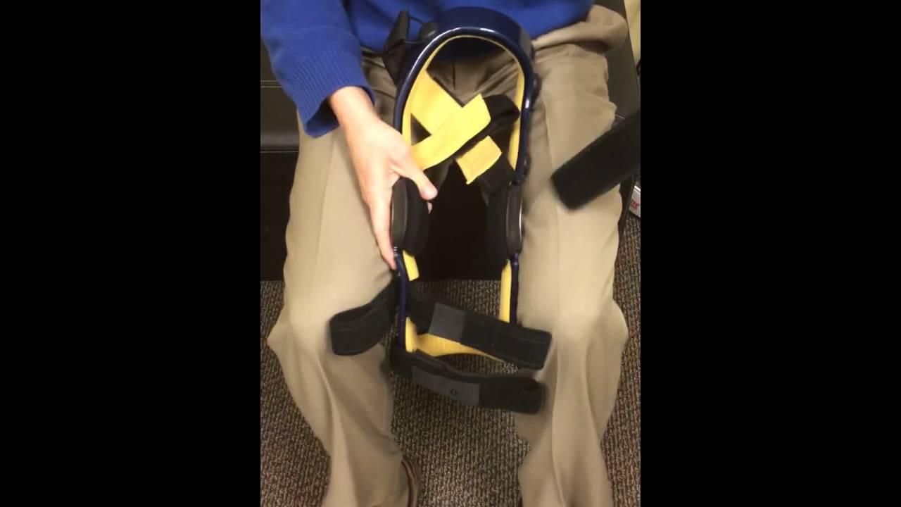 12b4d3bff4 Donjoy knee brace Zero Strap / anti-migration band installation ...