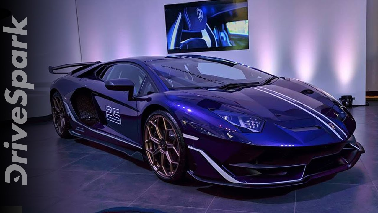 Lamborghini Aventador Svj Launched In India At Lamborghini Bengaluru