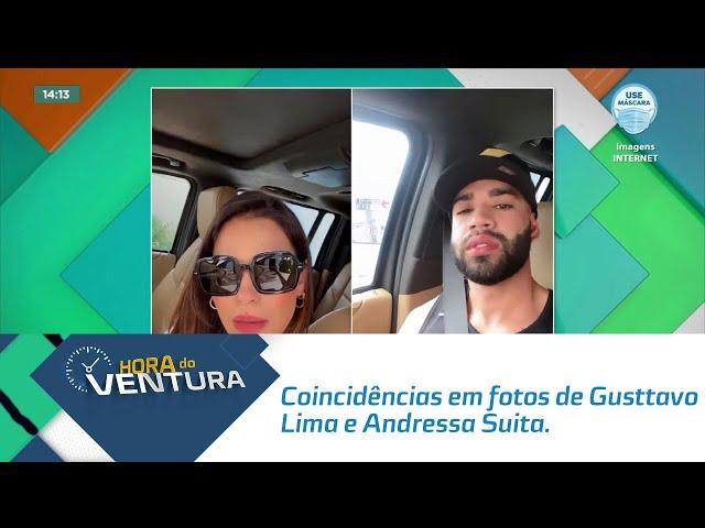 Será? Web comenta coincidências em fotos de Gusttavo Lima e Andressa Suita