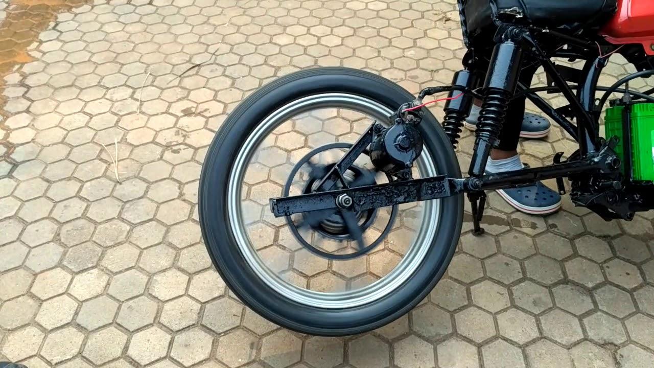 Electric Motor Cycle using starter motor