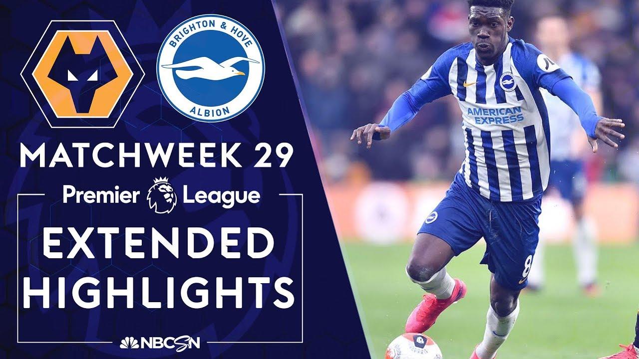 Wolves v. Brighton | PREMIER LEAGUE HIGHLIGHTS | 3/7/2020 | NBC Sports